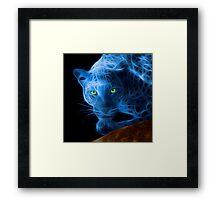 Blue Leopard Framed Print