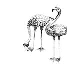 Flamingo Spectacles Drawing by Linn Warme