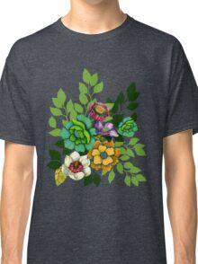 Flower Bouquet Print Classic T-Shirt