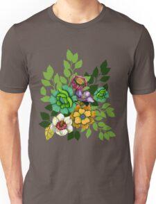 Flower Bouquet Print Unisex T-Shirt