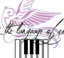 Music is the Language of Emotion - Piano Keys Sticker
