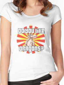 Do You Like Dragons? Women's Fitted Scoop T-Shirt