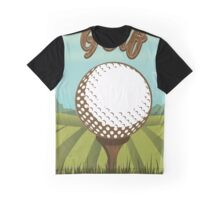 Golf sports vintage style poster Graphic T-Shirt