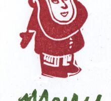 Merry Christmas Santa Sticker