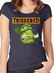 TRIGGERED Peon (Warcraft) Women's Fitted Scoop T-Shirt