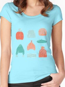 winter hats Women's Fitted Scoop T-Shirt