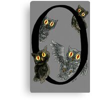 O is for Owls Watercolor Painting Canvas Print