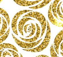 Gold Christmas Rose Pattern Sticker