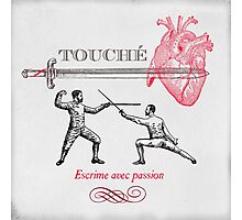 Fencing Touche Heart Photographic Print