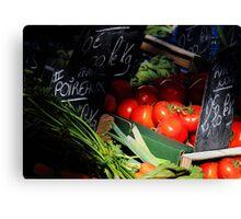 Sunlight Tomatoes. Canvas Print
