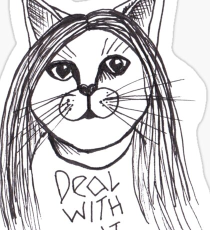 Deal With It Sassy Cat Sticker
