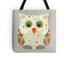 retro christmas owl Tote Bag