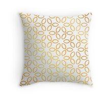 Gold Petals Pattern Throw Pillow