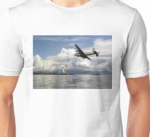 Shackleton over Lismore lighthouse Unisex T-Shirt