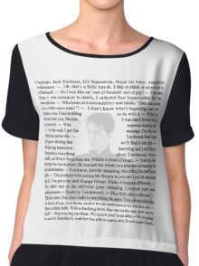 Torchwood Quotes - Captain Jack Harkness Chiffon Top