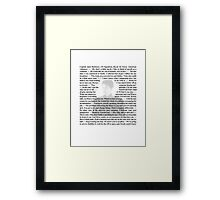 Torchwood Quotes - Captain Jack Harkness Framed Print