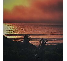 Waves On Fire Photographic Print