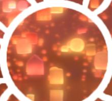 Flower Symbol Lanterns Sticker