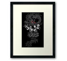 Bruce Lee & Ip Man - Philosophy Framed Print