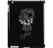 Bruce Lee & Ip Man - Philosophy iPad Case/Skin