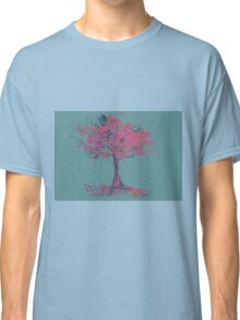 Watercolor of autumn tree Classic T-Shirt