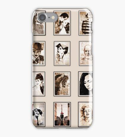 old book drawing famous people cal iPhone Case/Skin