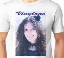 Vinylone and the Girl with fabulous smile, curls and cute eyes made by Blunder Unisex T-Shirt