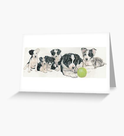 Border Collie Puppies Greeting Card