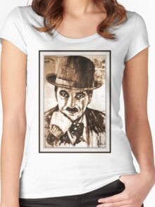 old book drawing famous people cal Women's Fitted Scoop T-Shirt