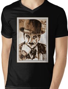 old book drawing famous people cal Mens V-Neck T-Shirt