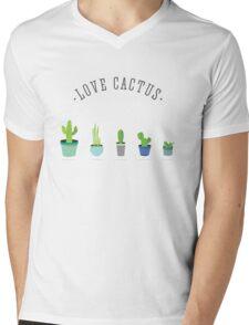 love cactus kaktus grün stacheln pflanzen Mens V-Neck T-Shirt