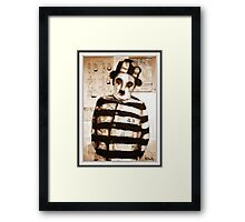 old book drawing famous charles chaplin Framed Print