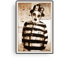 old book drawing famous charles chaplin Canvas Print