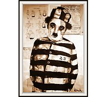 old book drawing famous charles chaplin Photographic Print