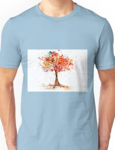 Watercolor of autumn tree Unisex T-Shirt