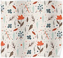 Cute Christmas/Autumn Pattern Poster