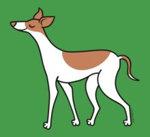 Proud Greyhound - brown and white Kids Clothes