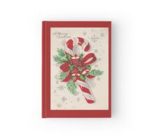 A Vintage Merry Christmas Candy Cane Hardcover Journal