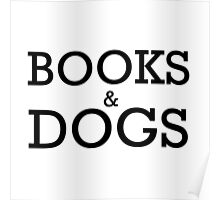 Books and Dogs Poster