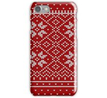 Christmas Decorative Fabric Pattern iPhone Case/Skin