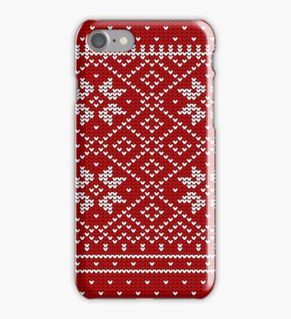 Christmas Decorative Fabric Pattern iPhone Case/Skin
