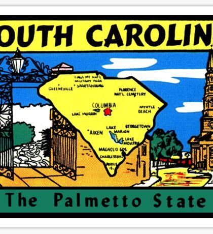 South Carolina Vintage Travel Decal Sticker