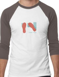heel toe Men's Baseball ¾ T-Shirt