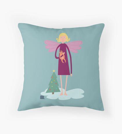 Weihnachtsengel Throw Pillow