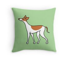Proud Greyhound - brown and white Throw Pillow