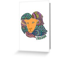 Freedom Lion (Small) Greeting Card