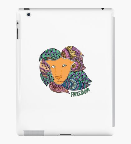 Freedom Lion (Small) iPad Case/Skin
