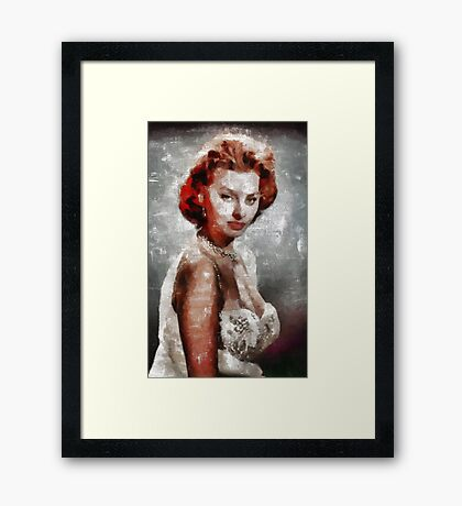 Sophia Loren Hollywood Actress Framed Print