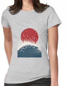 Crane with Sea and Sun Shirt Womens Fitted T-Shirt