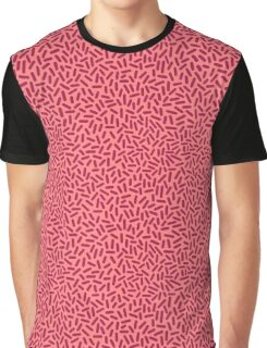 Pink Sprinkles Pattern Graphic T-Shirt